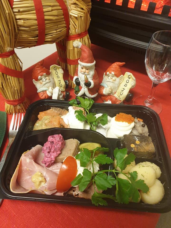 jultallrik avhämtning catering i gävle